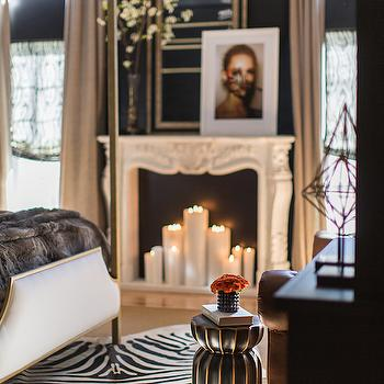 Fireplace Candles, Eclectic, bedroom, Jessie D Miller
