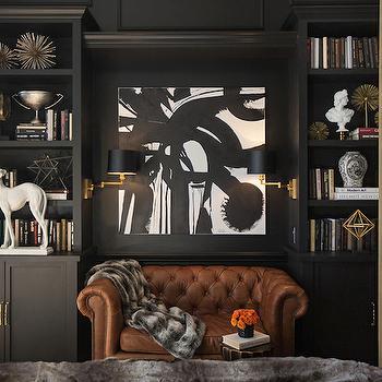 Black Built In Cabinets, Eclectic, bedroom, Jessie D Miller