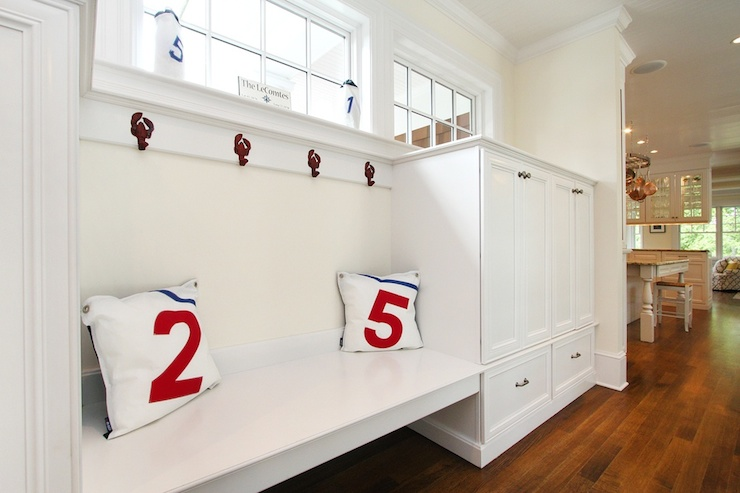 Floating Mudroom Bench Country Laundry Room
