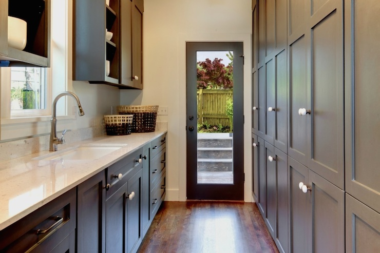 Galley Butlers Pantry Transitional Kitchen