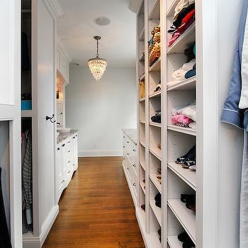 Sink Vanity in Closet, Transitional, closet