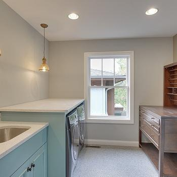 Enclosed Washer and Dryer, Cottage, laundry room