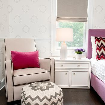 Kids Room Chair Rail, Transitional, girl's room, AE Design