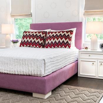 Purple Velvet Bed, Transitional, girl's room, AE Design