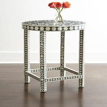 Mia Inlay Accent Table I Horchow