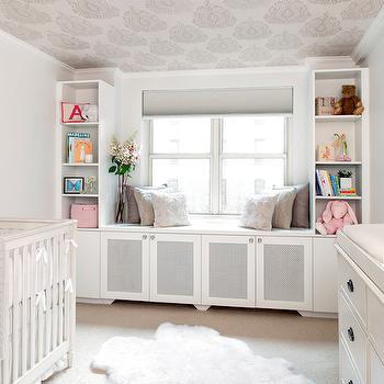 Nursery Window Seat, Transitional, nursery, AE Design