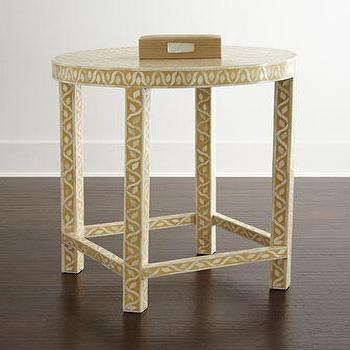 Pia Inlay Accent Table I Horchow