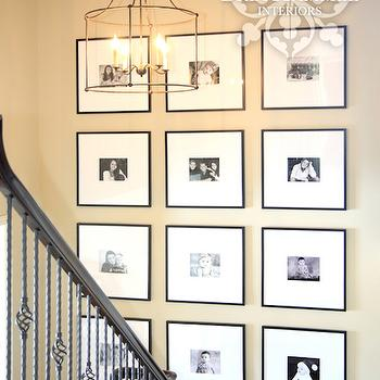 Staircase Photo Wall Ideas, Transitional, entrance/foyer, Bria Hammel Interiors