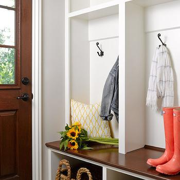 Mudroom Baskets, Cottage, laundry room, Bria Hammel Interiors