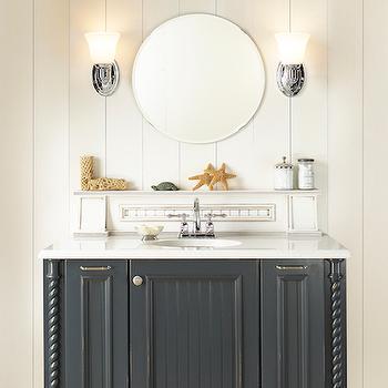 Cottage, bathroom, Wellborn Cabinet
