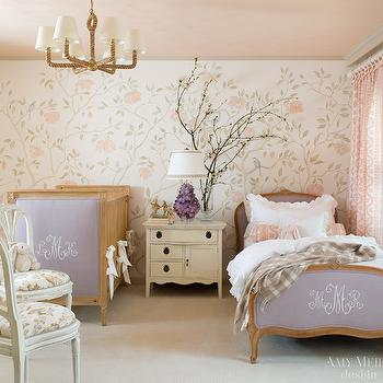 Monogrammed Crib, Traditional, nursery, Amy Meier Design