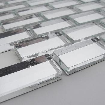 ISI Mirror Bricks, Uniform Brick, Silver, Glossy, Silver, Glass