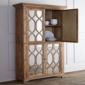 Kady Antiqued-Mirror Cabinet I Horchow