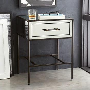 Mirrored Nightstand I Horchow
