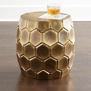 Melisande Honeycomb Garden Stool I Horchow