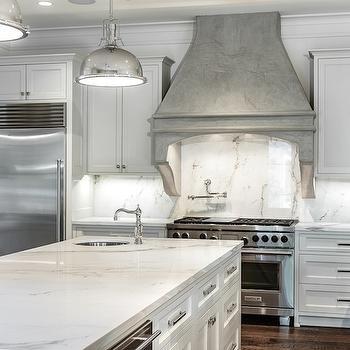 Gray Kitchen Hood, Transitional, kitchen, Frasier Homes