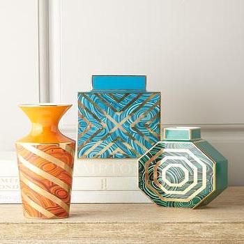 Jonathan Adler Malachite Vases I Horchow