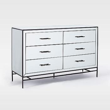 Mirrored 6-Drawer Dresser I Horchow