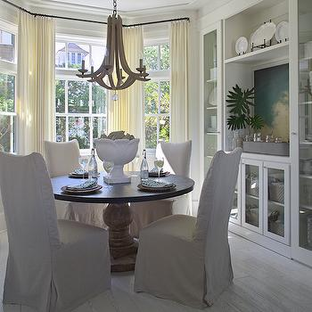 Bay Window Dining Table, Cottage, dining room, Urban Grace Interiors
