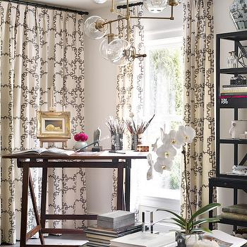 Desk in Corner, Transitional, den/library/office, Atlanta Homes & Lifestyles
