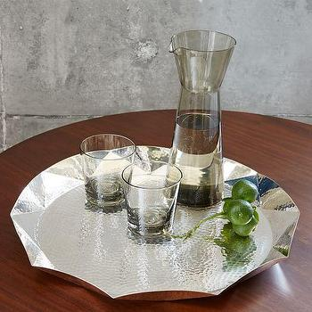 Geo Hammered Tray I West Elm
