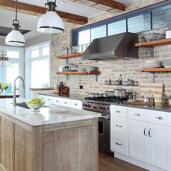 Bianco Pirgoni Marble Countertop, Transitional, kitchen, Normandy Remodeling
