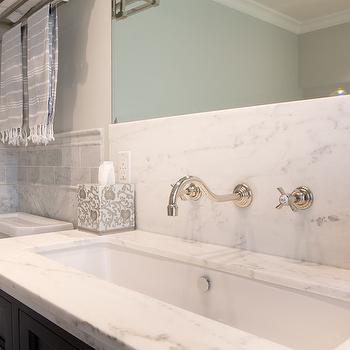 Lacava Sink, Transitional, bathroom, Benjamin Moore Moonshine, Charmean Neithart Interiors