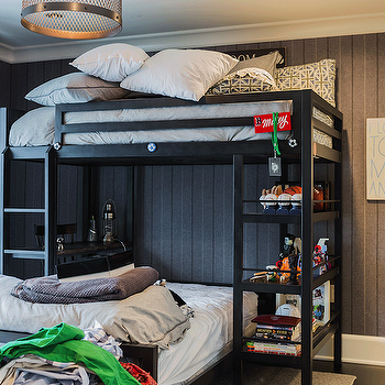 Kids Loft Bed, Cottage, boy's room, Brookes and Hill Custom Builders