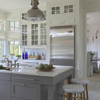 Two Sinks in Kitchen Island, Cottage, kitchen, Urban Grace Interiors
