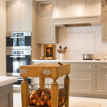 Butcher Block Island, Transitional, kitchen, Benjamin Moore River Reflections, Charmean Neithart Interiors