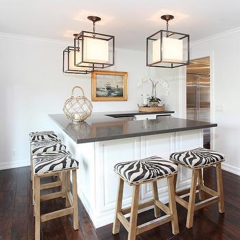 Zebra Barstools, Transitional, kitchen, Blackband Design
