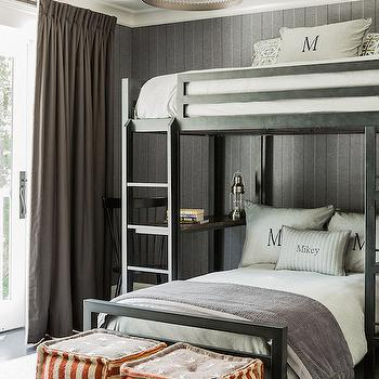 Loft Bed with Desk, Cottage, boy's room, Brookes and Hill Custom Builders