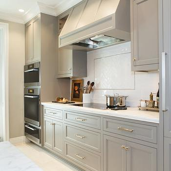 Gray Kitchen Cabinets, Transitional, kitchen, Benjamin Moore River Reflections, Charmean Neithart Interiors