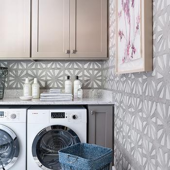 Recycled Wallpaper, Transitional, laundry room, Atlanta Homes & Lifestyles