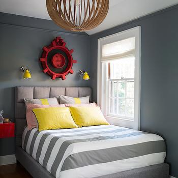 Channel Tufted Headboard, Contemporary, boy's room, Chango & Co.