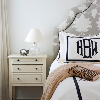 Black and White Monogram Bedding, Transitional, bedroom, Breeze Giannasio