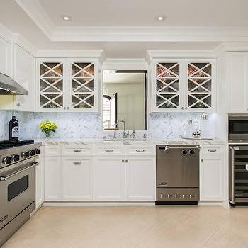 Calcutta Backsplash, Transitional, kitchen, M Wright Design
