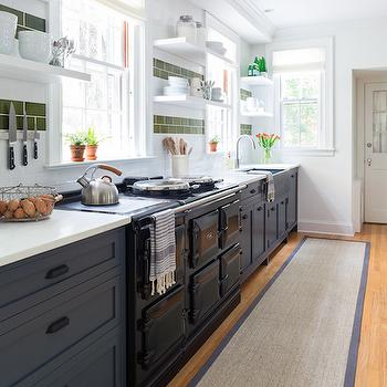 Blue Kitchen Cabinets, Eclectic, kitchen, Chango & Co.