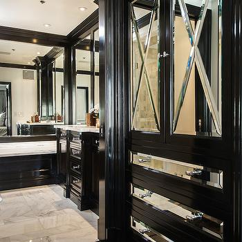 Mirrored Closet Cabinets, Transitional, closet, M Wright Design