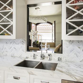 Kitchen Pass Through Ideas, Transitional, kitchen, M Wright Design