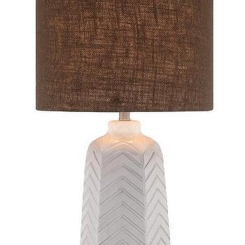 Illuminada 3-Way Ceramic Chevron  Table Lamp I AllModern