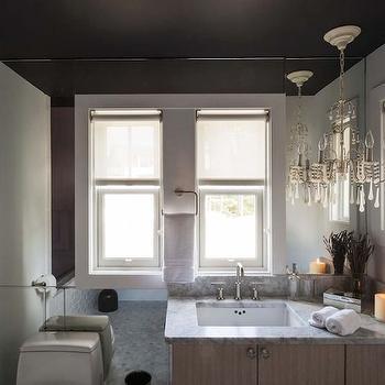 Mirrored Accent Wall, Eclectic, bathroom, The Novogratz