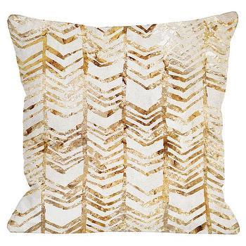 One Bella Casa Season Glitter Chevron Throw Pillow I AllModern