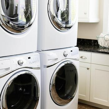Stacked Washer Dryer, Transitional, laundry room, UV Parade of Homes