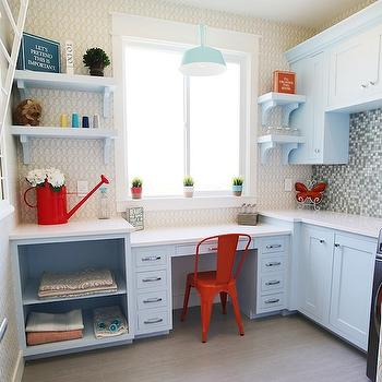 Laundry Room Desk, Transitional, laundry room, UV Parade of Homes