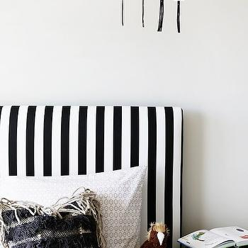 Black And White Stripe Headboard Transitional Boys Room Uv Parade