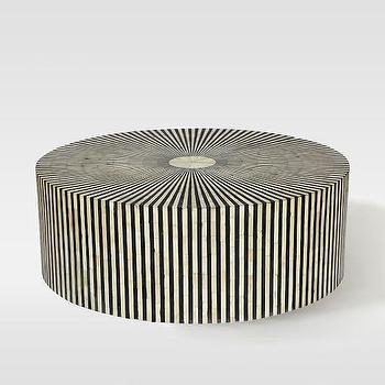 Stripe Inlay Coffee Table I West Elm