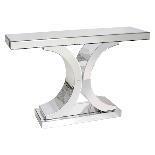 Worlds Away Double C Mirrored Console Table Look For Less