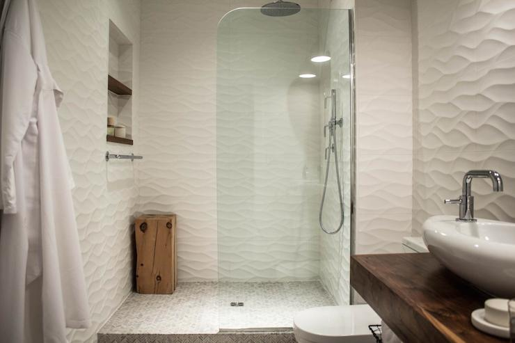 Porcelanosa Artek White Tile Modern Bathroom Studio