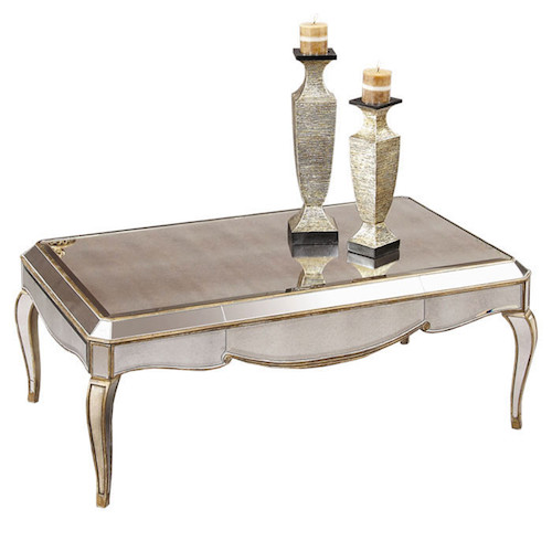 Bassett Mirror Collette Rectangle Cocktail Table Look for Less